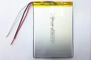Baterie pro tablety - 3.7V, 3000mAh, 3.5x70x95mm, 3 dráty
